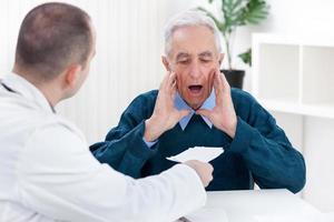 schockierter Patient foto