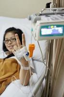 Patienten erholen foto