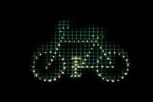 Grafiksymbolschema mit Fahrrad - Bicicleta Simbolo
