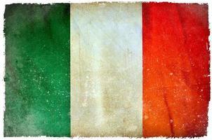 Irland Grunge Flagge foto