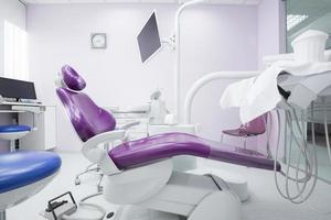 moderne Innenausstattung der Zahnarztpraxis foto