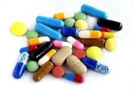 mehrfarbige Medikamente