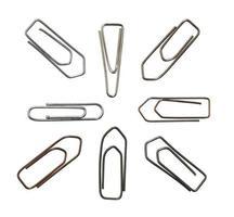 Variation der metallischen Büroklammern
