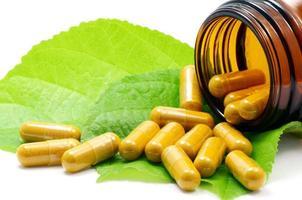 Konzept der alternativen Medizin. foto
