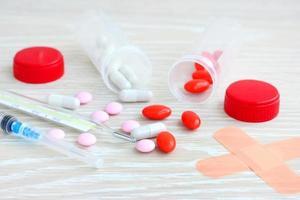 verschüttete Pillen Medizin foto