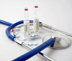 Medizin und Stethoskop foto