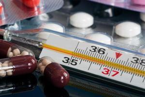 Tabletten Medizin Temperatur foto