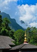 Tempel im Dschungel foto
