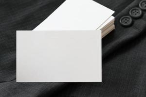 leere Visitenkarte des Corporate Identity-Pakets foto