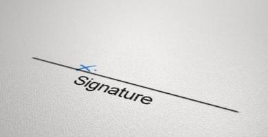 Signaturbereich x foto