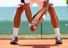 Tennisspieler in Aktion