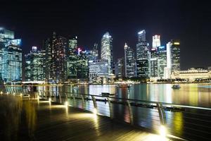 wohlhabendes städtisches Stadtbild bei Nacht foto
