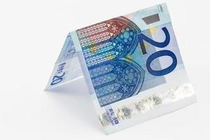 einzelne 20-Euro-Note foto