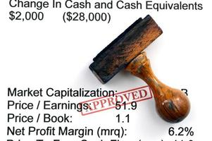 Finanzbericht - genehmigt foto