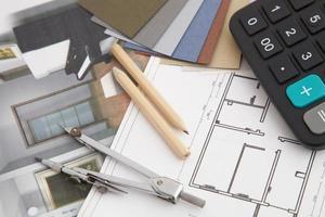 Innenarchitektur und Werkzeuge für Wohngebäude foto