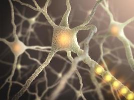 Nahaufnahme einer Nervenzelle foto