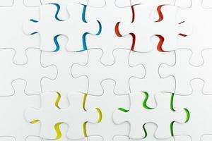 Puzzle-Verwendung für geschäftlichen Hintergrund foto