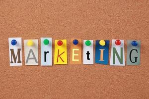 Marketing einzelnes Wort foto