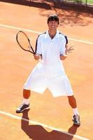 verärgerter Tennisspieler foto