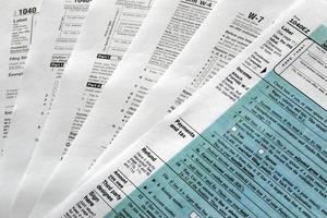 Steuerformular foto