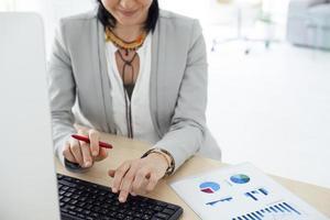 berufstätige Frau im Büro foto