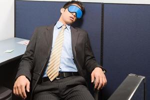 Geschäftsmann schläft foto
