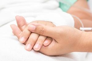 Hände von Patienten foto