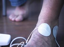 Patienten Hand Arm Handgelenk Physiotherapie Behandlung foto