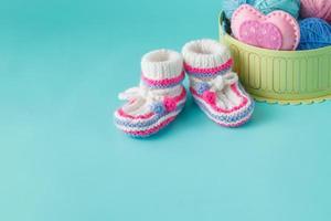 Neugeborenen-Ankündigungskonzept foto