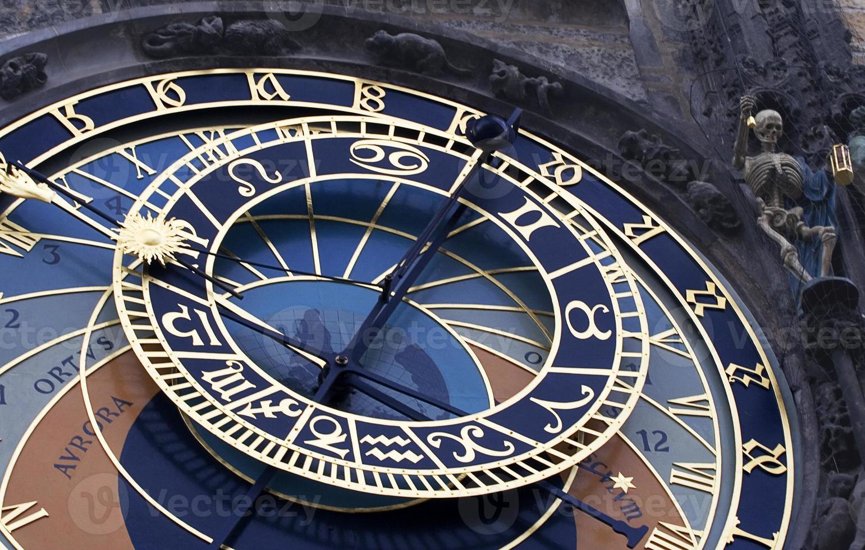 astronomisk klocka prag foto