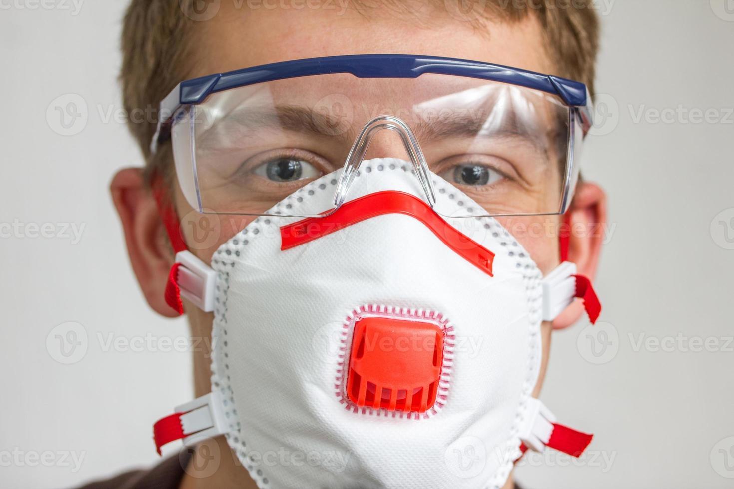 hantverkare med skyddsutrustning foto