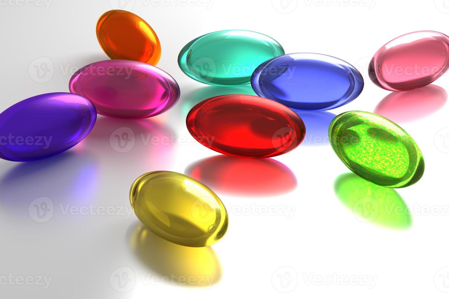 färgade piller foto