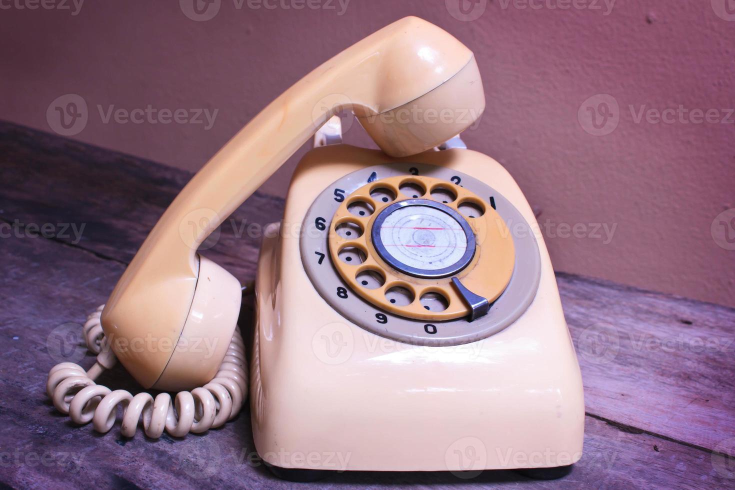 retro telefon. foto