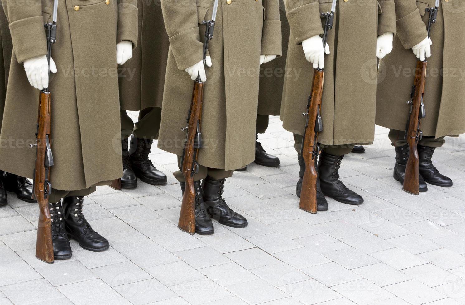 bulgariska trupper i formation foto