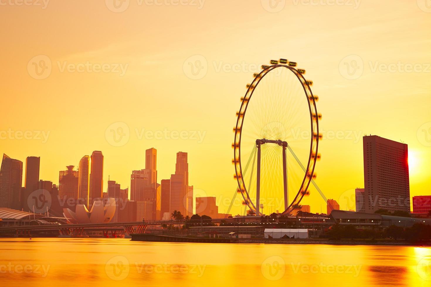 singapore vid solnedgången foto