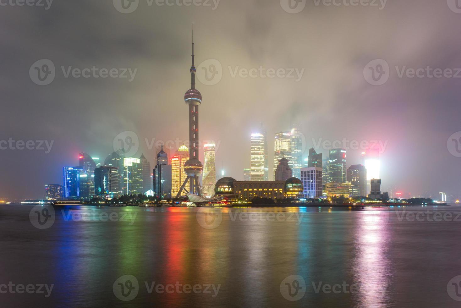 horisont av shanghai foto