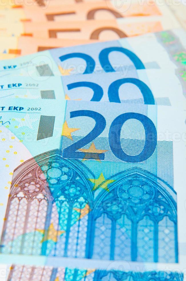 räkningar på 20 och 50 euro foto