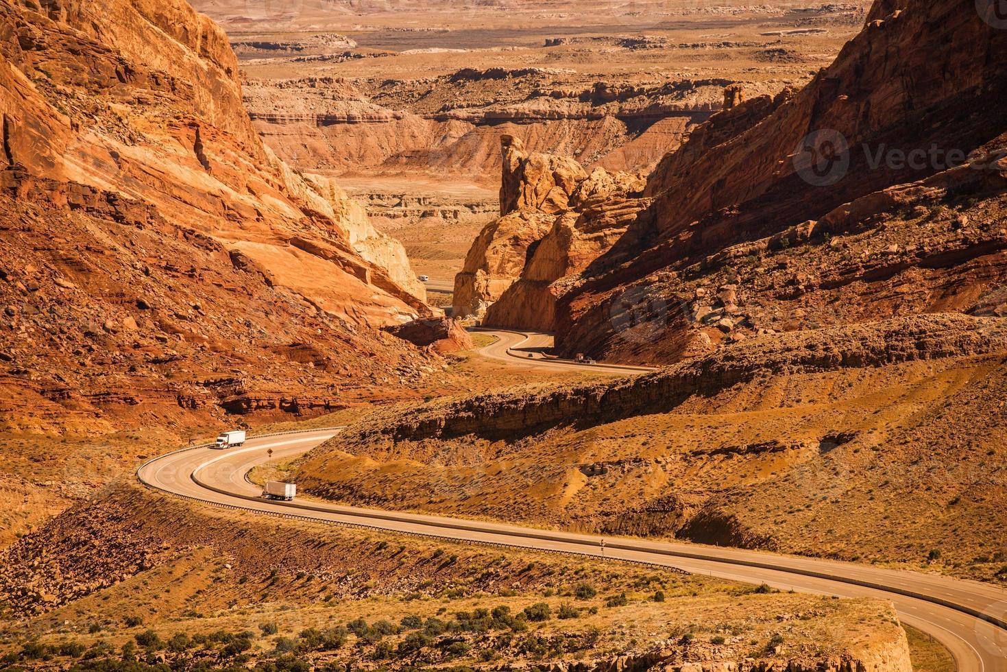öken utah highway foto