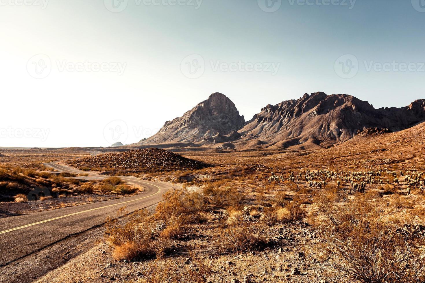 mojave öken motorväg foto