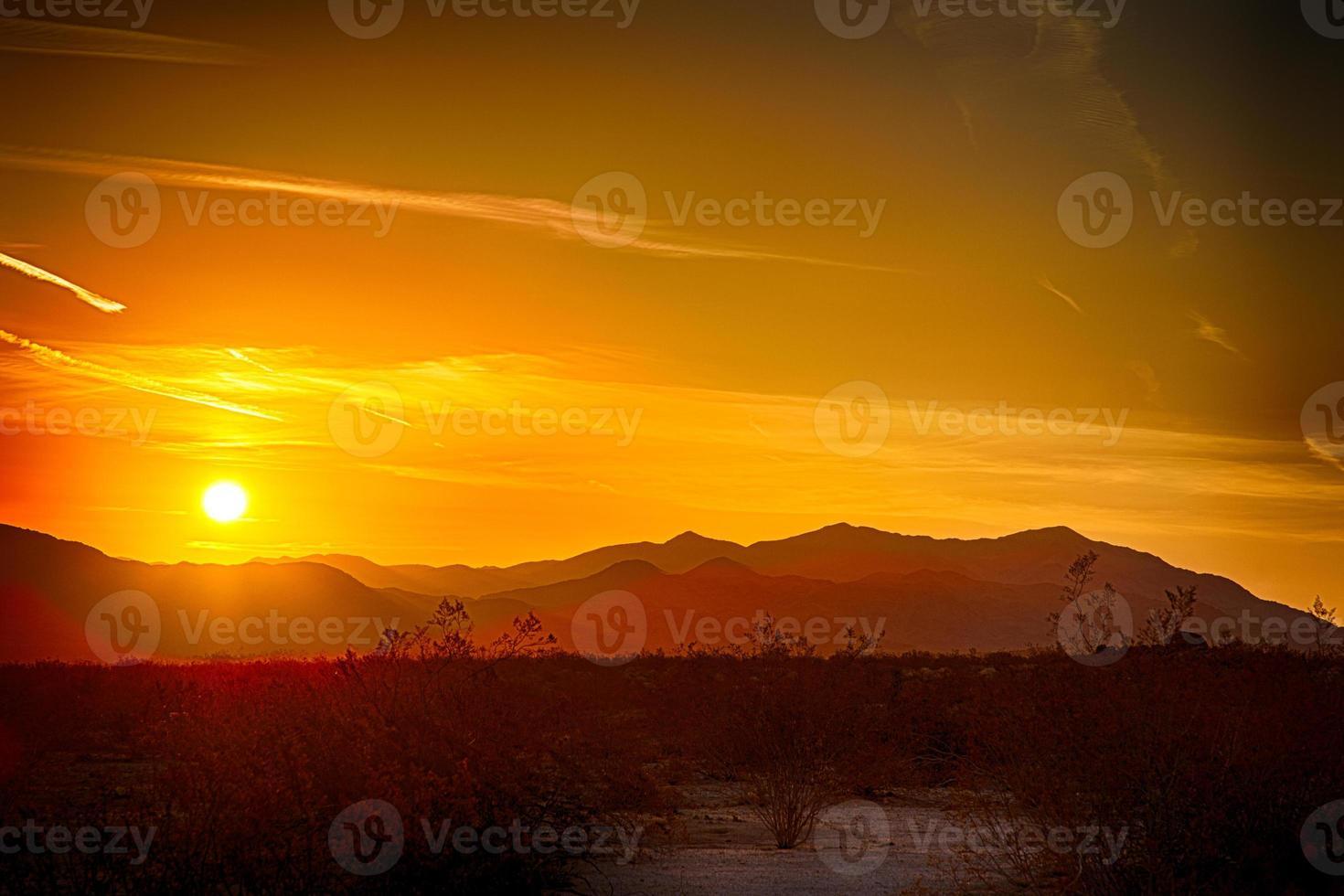 öken soluppgång foto
