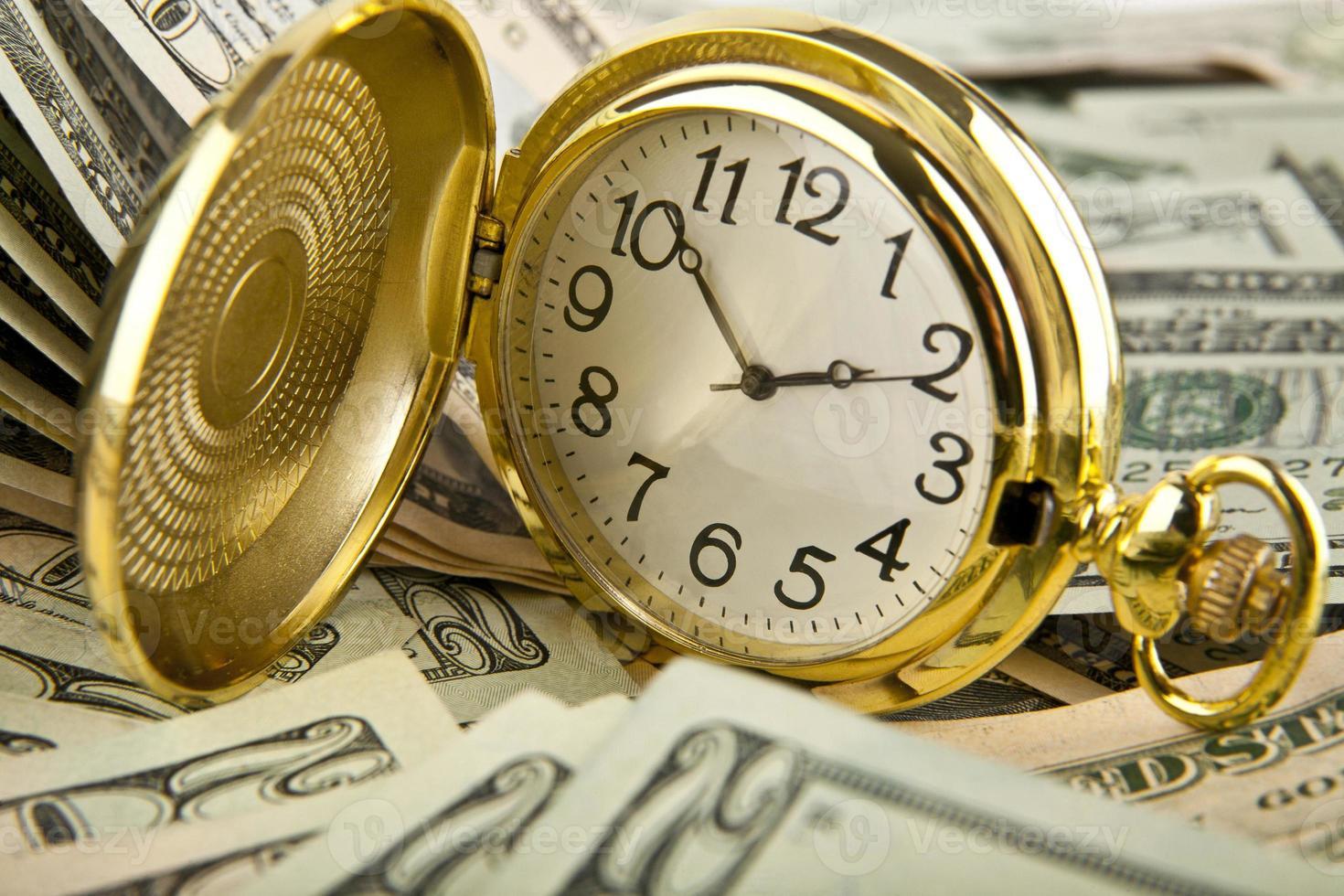dollar och timmar foto