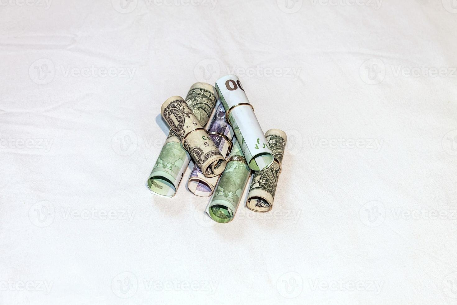 ringar och euro foto