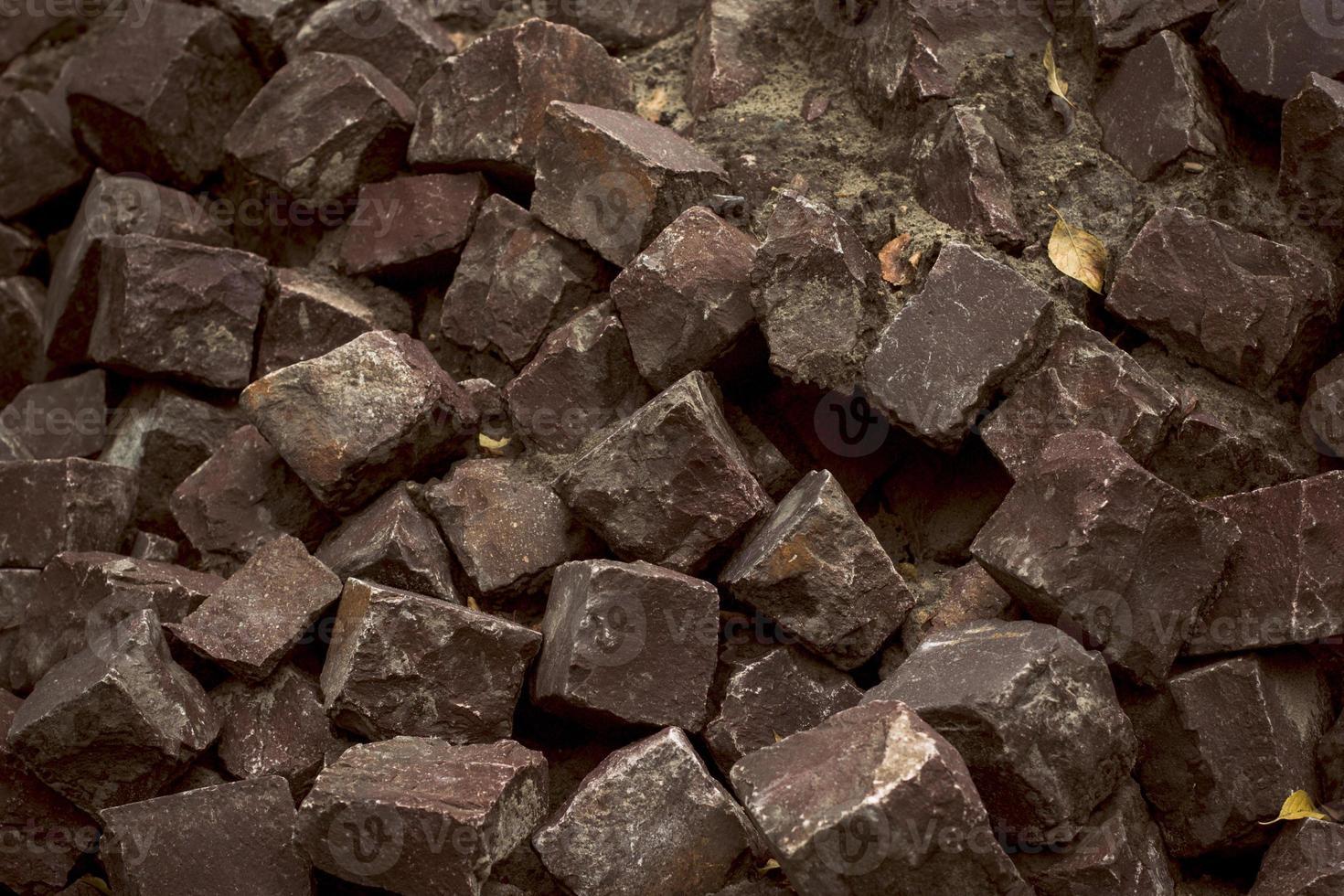 sten block närbild foto