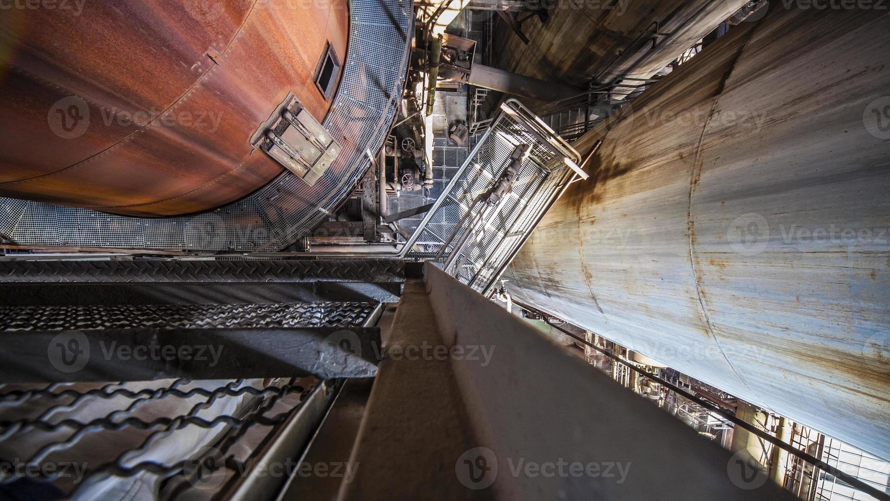 inne i den gamla fabriken foto