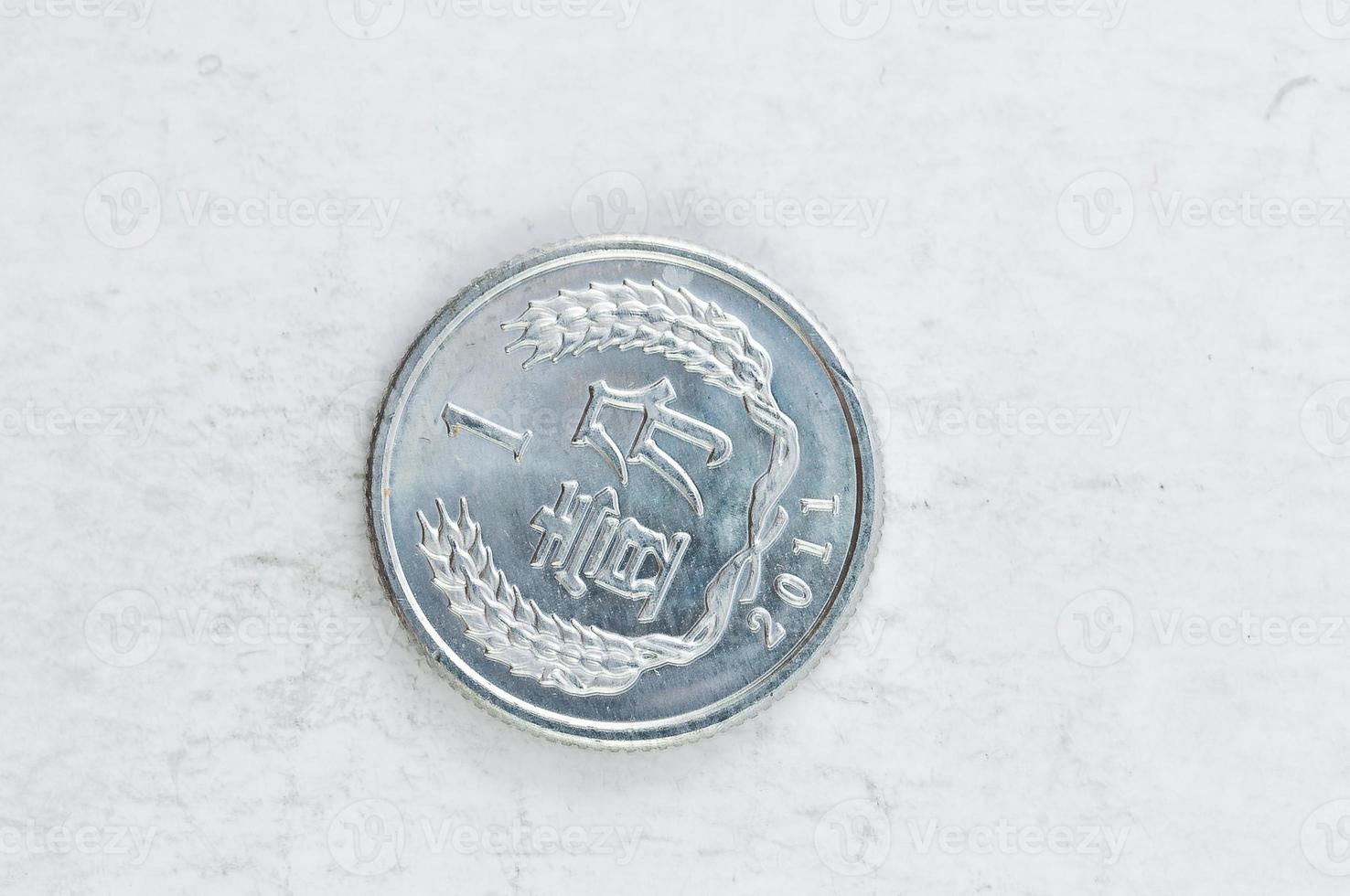 1 yi jiao kinesiska mynt silver alu foto