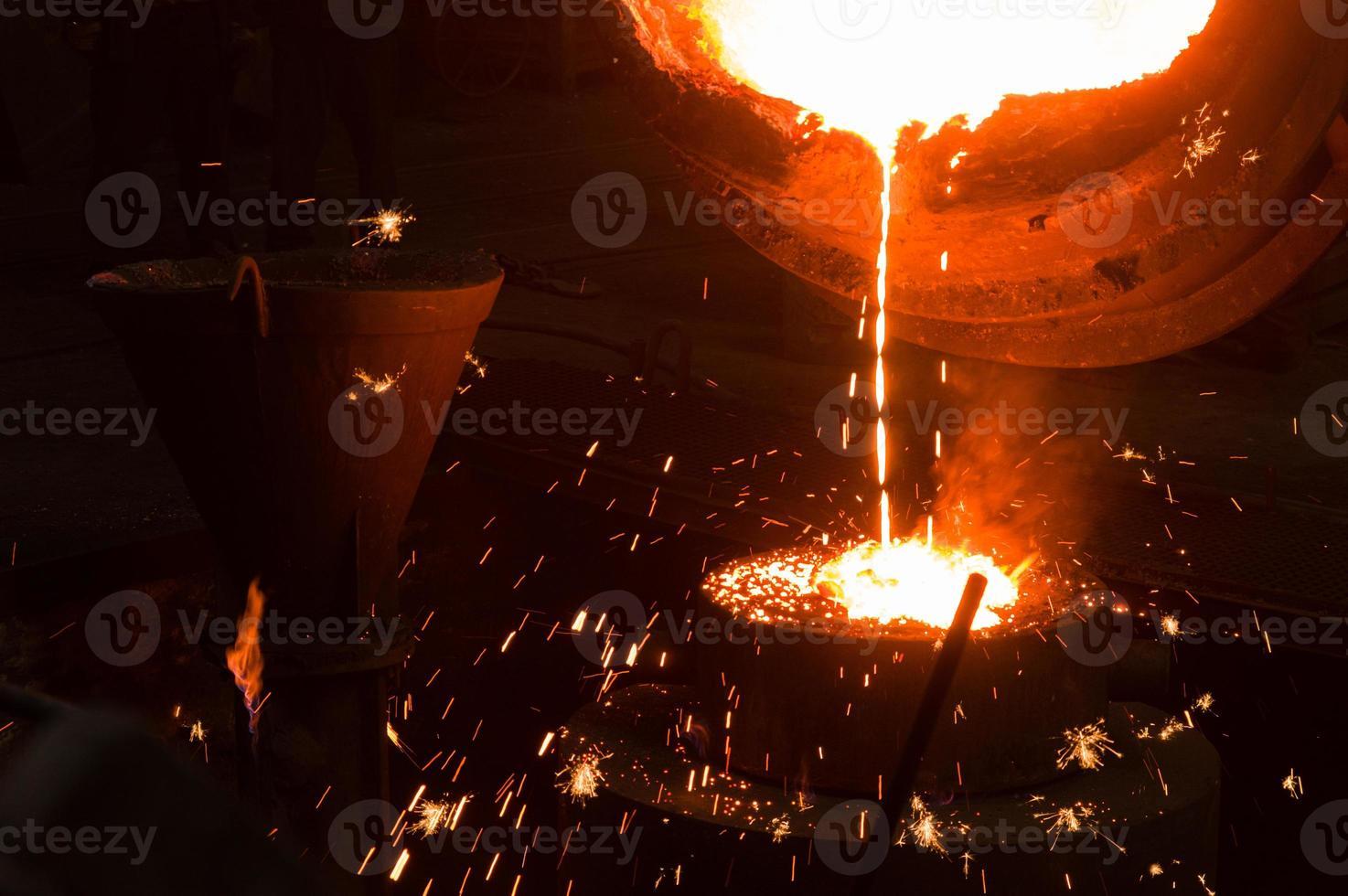 gjutning av metall foto
