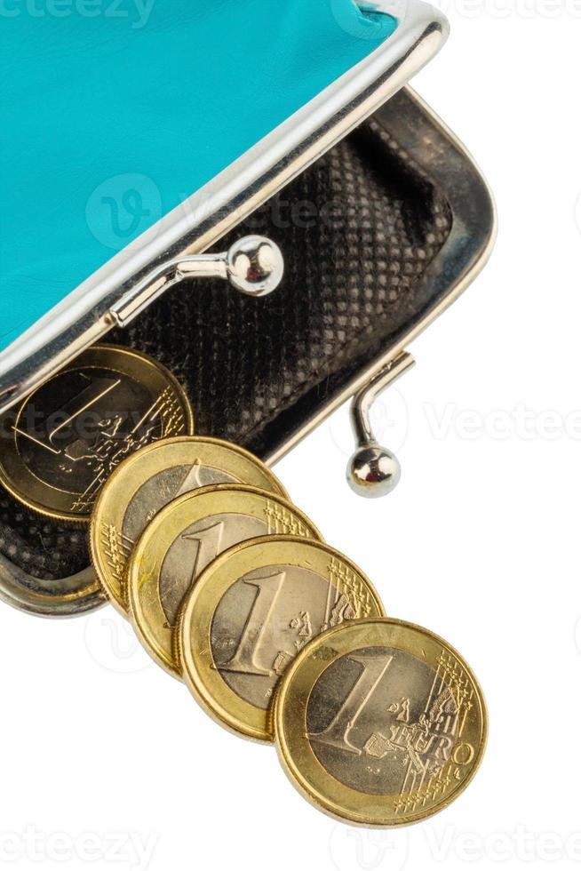 nästan tom plånbok foto