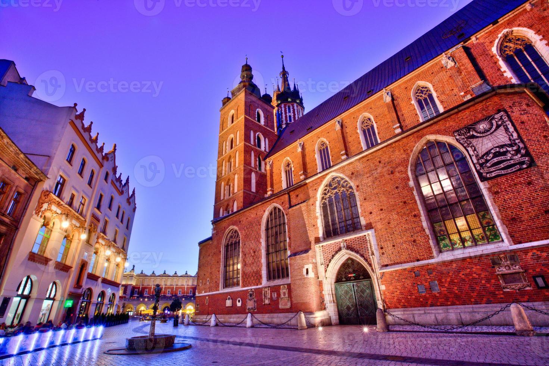 krakow, st. Marys kyrka foto