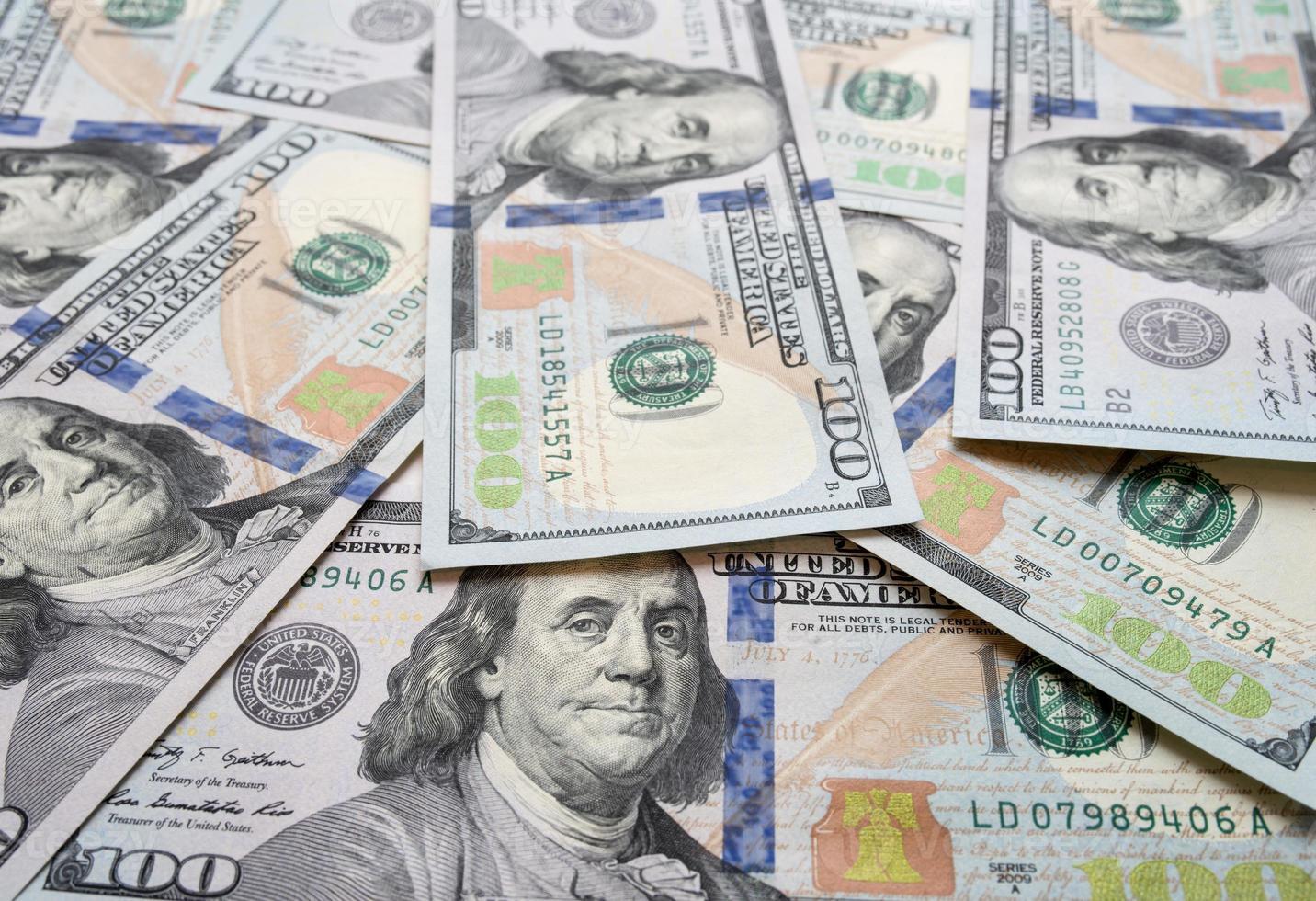 ny $ 100-räkningsbakgrund foto