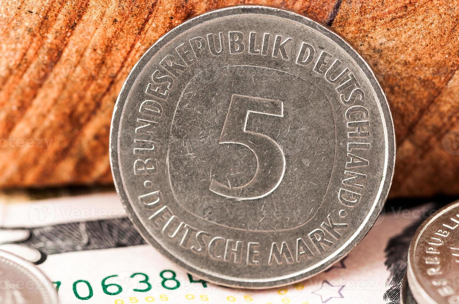 5 fem deutsche mark bundesrepubik deutschland foto
